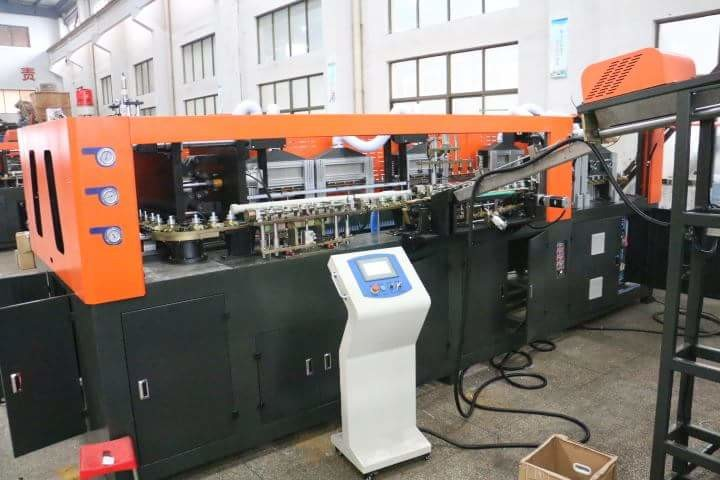 Low Energy Consumption Semi Auto Blowing Machine Making Hot - Filling Bottles